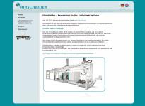 Webseite | Hirscheider GmbH