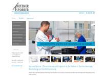 Webseite | Hetzner-Sporrer GmbH