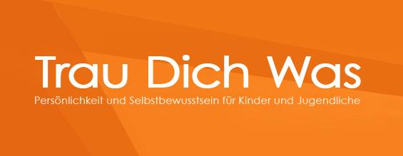"""Headerbild für die News zu """"Trau-Dich-Was"""" in Orange mit dem Trau-Dich-Was Logo"""