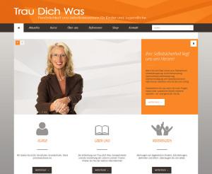 """Die neue Website von """"Trau-Dich-Was"""" umgesetzt in Wordpress. So ist es möglich mit wenigen Handgriffen eigenen Content einzupflegen, neue Seiten zu erstellen, Bilder hochzuladen, oder Beiträge zu moderieren."""