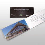 Gestaltung einer Geburtstagskarte für das Autohaus Road Star in edler, schwarz- und silberfarbigen Optik.