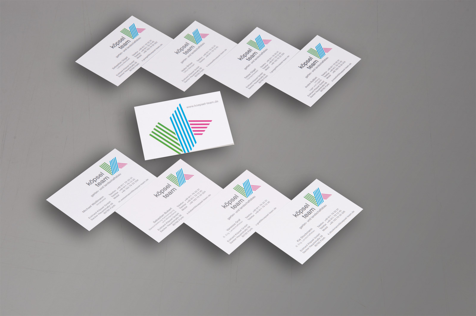 Visitenkarte Eckard Köpsel Gmbh Werbeagentur Focus