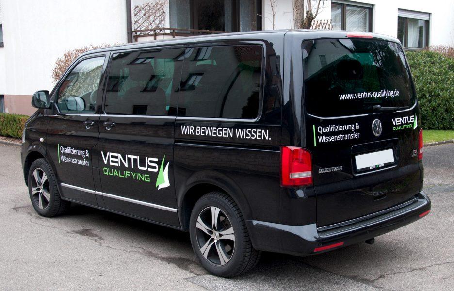 Fahrzeugbeklebung für die Firma Ventus Qualifying