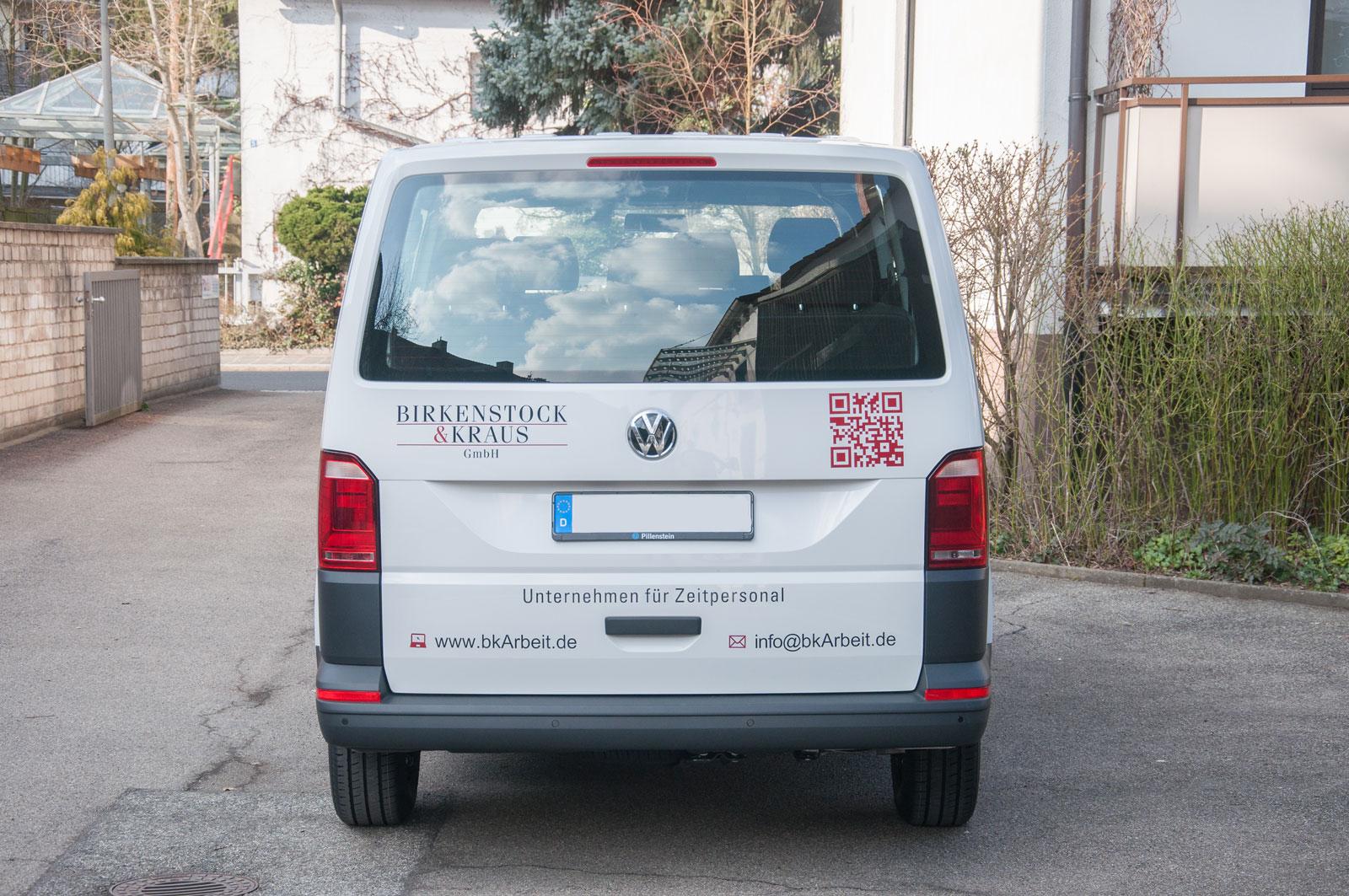 Beklebung vom Firmenwagen von Birkenstock & Kraus GmbH