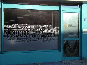 Sichtschutzbeklebung bei dem Vermögesnberater Jürgen Winkler in Nürnberg