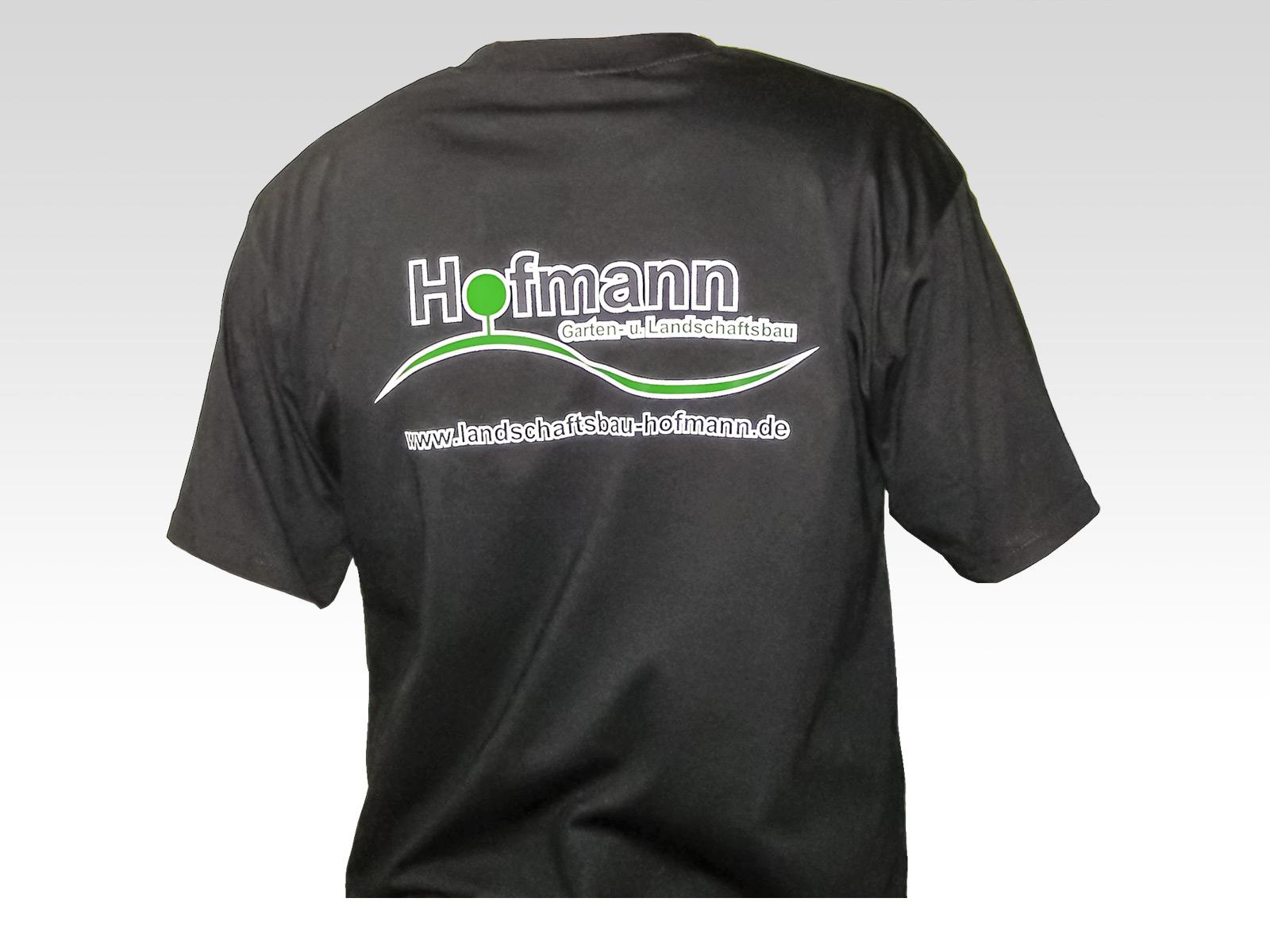 Werbeagentur Focus Nürnberg Hofmann Gartenbau T-shirt