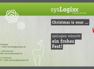 Werbeagentur Focus Nürnberg sysLogixx Weihnachtskarten