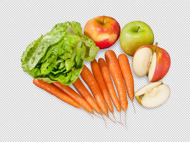 Freisteller von Obst und Gemüse