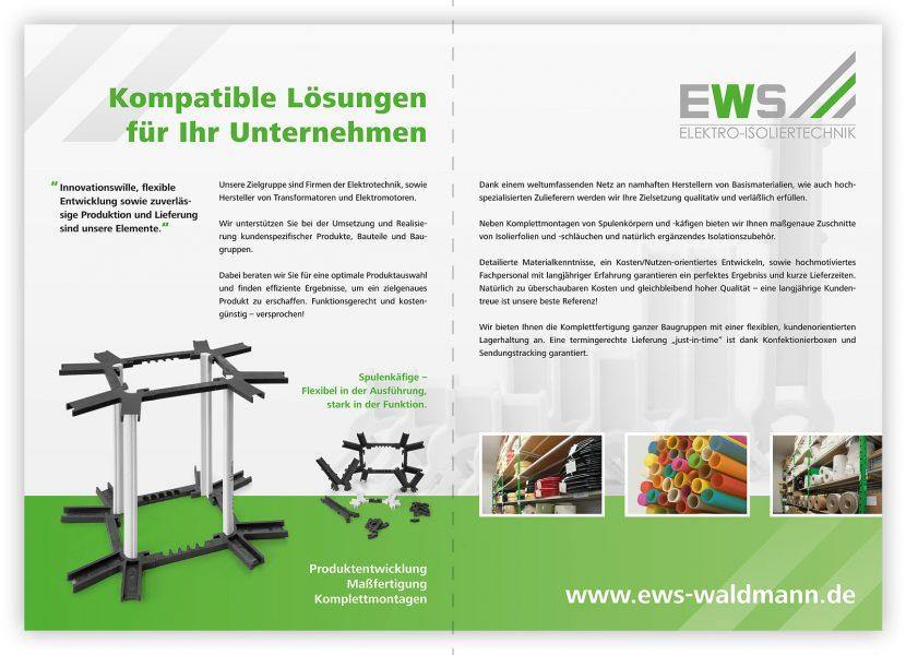 Gestaltung einer Imagebroschüre für die Firma EWS