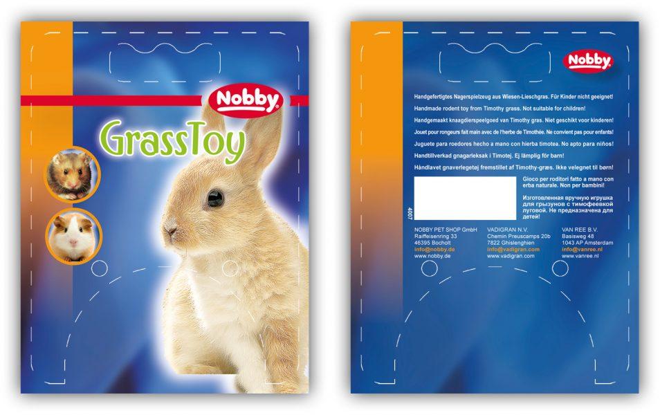 """Produktdesign """"GrassToy"""" der Firma """"Nobby"""""""