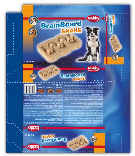 Verpackungsdesign für ein BrainBoard zur Beschäftigung von Hunden