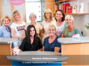 Screenshot der neuen Webseite der Frauenärztinnen in Cadolzburg