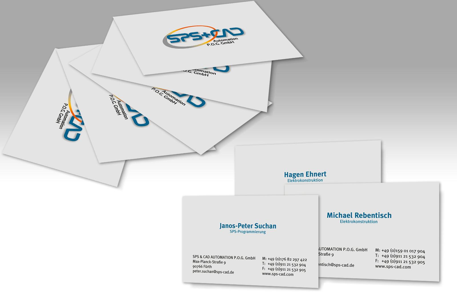 Visitenkarten Sps Cad Werbeagentur Focus Ihre