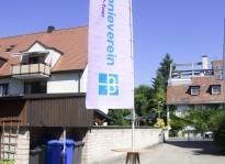 Mobiler Fahnenmast & Beachflag | Diakonie