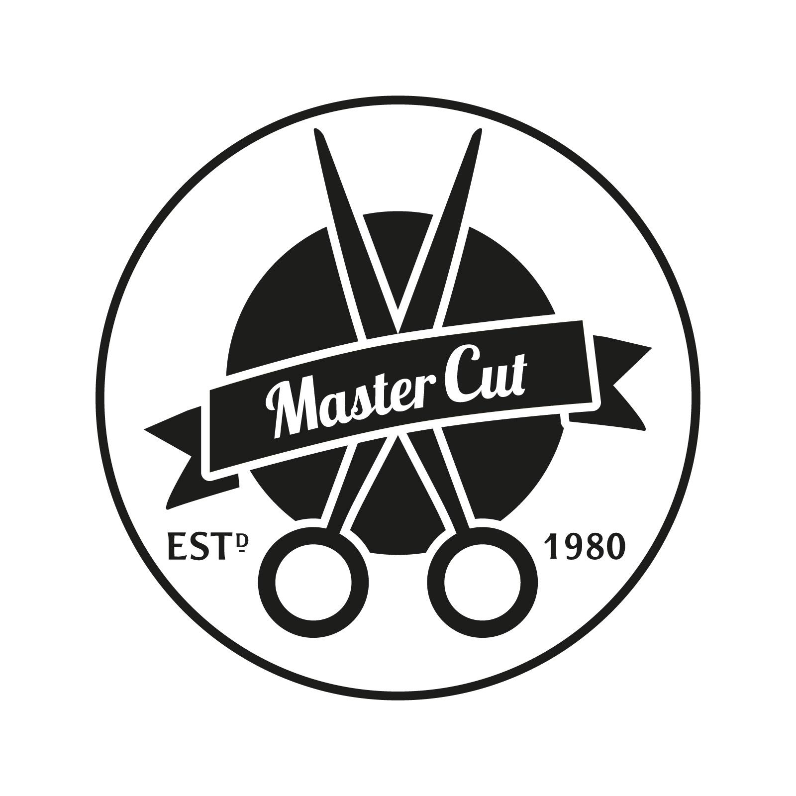 Master Cut Logo in schwarz und weiß