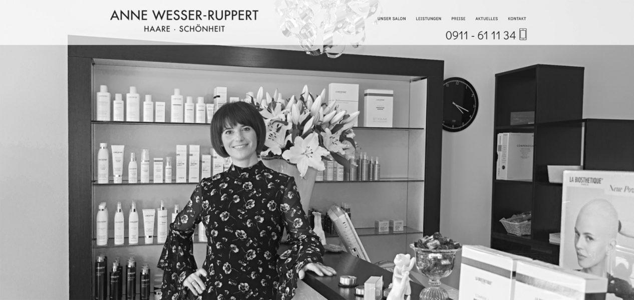 Screenshot der Homepage von Wesser-Ruppert