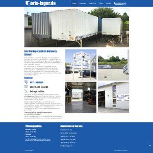 One-Page Webseite von Noris Lager