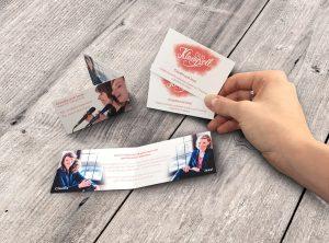 Klapp-Visitenkarten für Duo Klangvoll