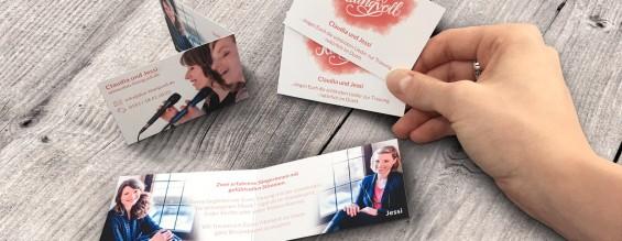 Klapp-Visitenkarten | DUO Klangvoll