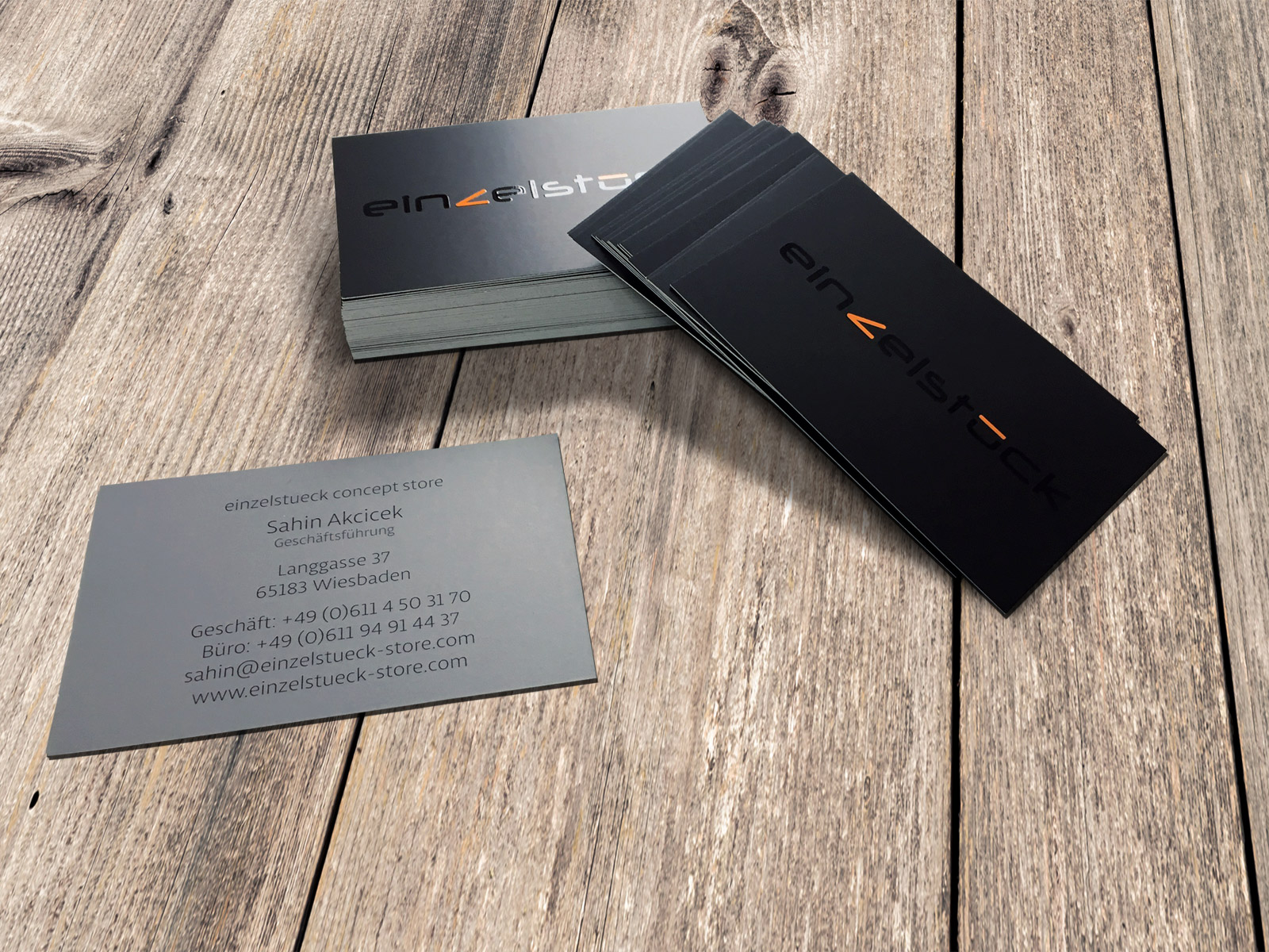 Visitenkarten Mit Uv Lack Einzelstück Werbeagentur Focus
