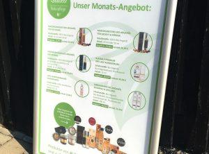 Monatsangebots-Poster für Saleo