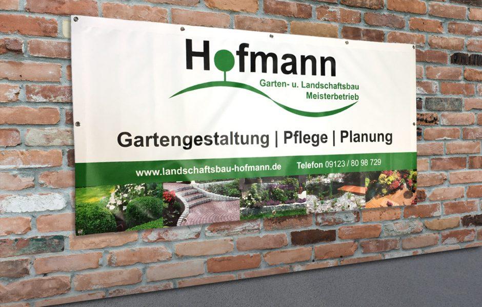 Großes Banner für Gartenbau- und Landschaftsbau Hofmann