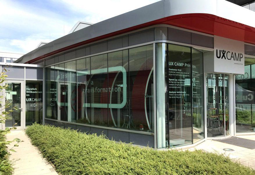 Großflächige Fensterscheibenbeschriftung für Siemens in Erlangen