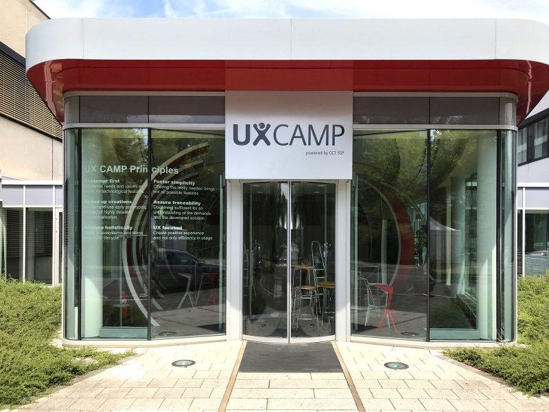 Fensterscheiben-Beschriftung und Schildbeklebung für Siemens in Erlangen