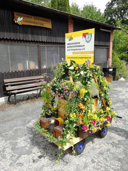 Schild vom Imkerverein Burgfrranbach