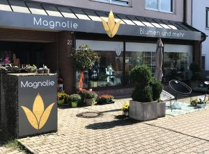 Frontansicht des Eingansbereiches von dem Laden Magnolie in Nürnberg