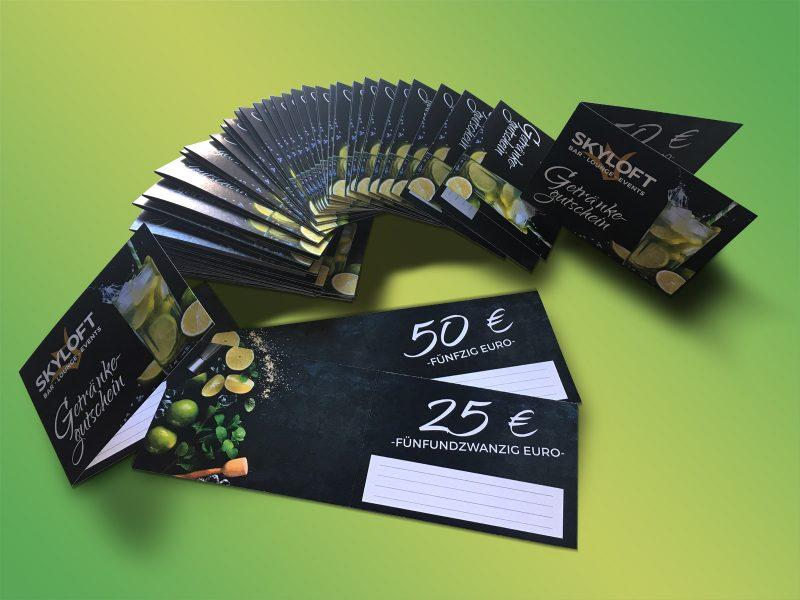Getränkegutscheinkarten für Skyloft aus Forchheim