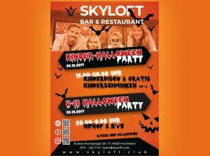 Halloween-Flyer für Skyloft aus Forchheim