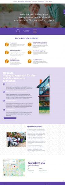 Homepage des Spätsommer Pflegedienstes