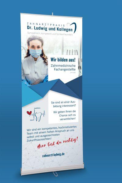 Roll-Up für Zahnarzt Dr. Ludwig