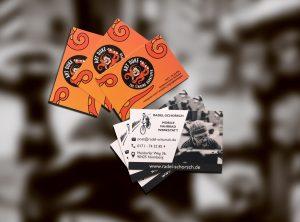 Collage der Visitenkarten für den Radel-Schorsch