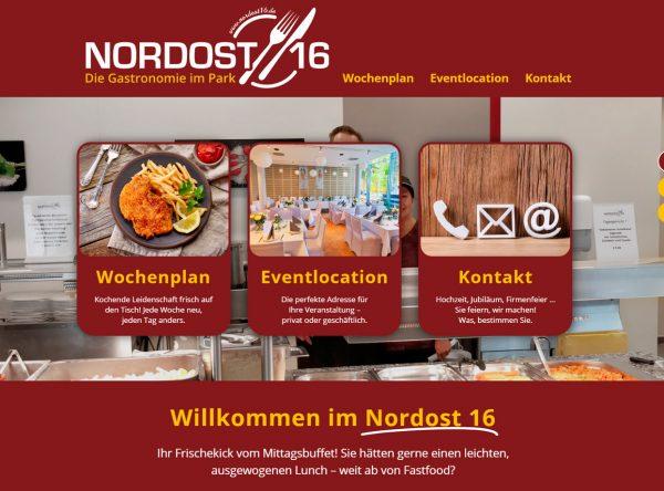 Screenshot der Nordost16 Startseite