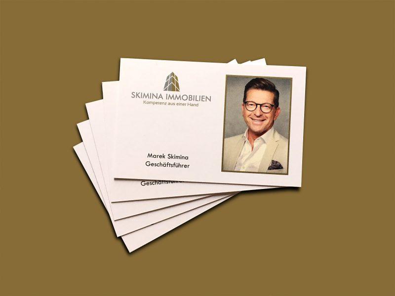 Rückseite - Visitenkarten für Skimina Immobilien