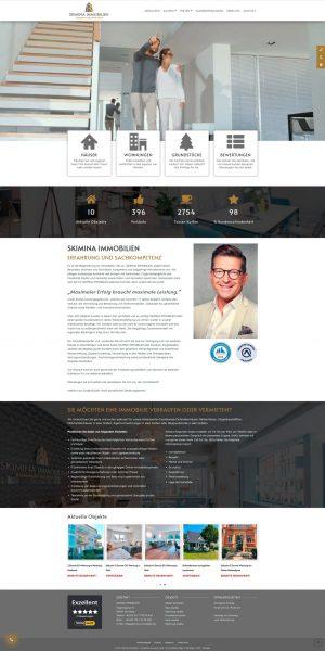 Webseite im Ganzen von Skimina Immobilien